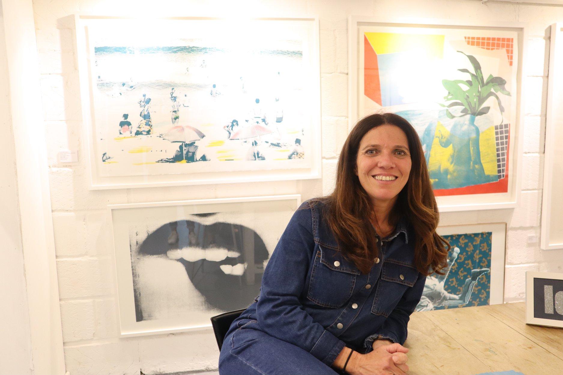 Nathalie Kingdon - in the studio